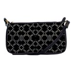 Geometric Abstract Pattern Futuristic Design  Evening Bag Front