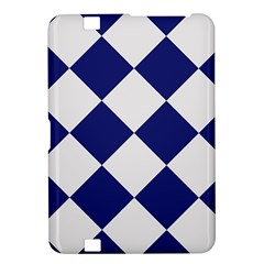 Harlequin Diamond Argyle Sports Team Colors Navy Blue Silver Kindle Fire HD 8.9  Hardshell Case