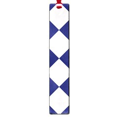Harlequin Diamond Argyle Sports Team Colors Navy Blue Silver Large Bookmark