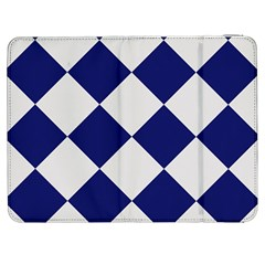 Harlequin Diamond Argyle Sports Team Colors Navy Blue Silver Samsung Galaxy Tab 7  P1000 Flip Case