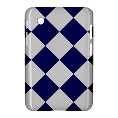 Harlequin Diamond Argyle Sports Team Colors Navy Blue Silver Samsung Galaxy Tab 2 (7 ) P3100 Hardshell Case