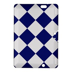 Harlequin Diamond Argyle Sports Team Colors Navy Blue Silver Kindle Fire HDX 8.9  Hardshell Case