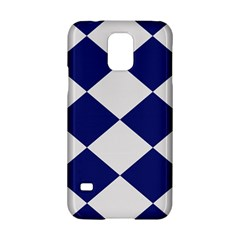 Harlequin Diamond Argyle Sports Team Colors Navy Blue Silver Samsung Galaxy S5 Hardshell Case