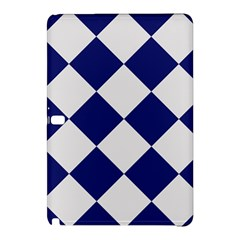 Harlequin Diamond Argyle Sports Team Colors Navy Blue Silver Samsung Galaxy Tab Pro 12.2 Hardshell Case