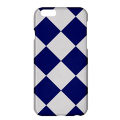 Harlequin Diamond Argyle Sports Team Colors Navy Blue Silver Apple iPhone 6 Plus Hardshell Case