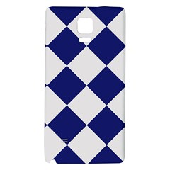Harlequin Diamond Argyle Sports Team Colors Navy Blue Silver Samsung Note 4 Hardshell Back Case