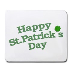 Happy St Patricks Text With Clover Graphic Large Mouse Pad (rectangle)