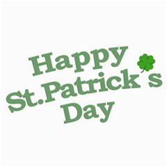 Happy St Patricks Text With Clover Graphic Canvas 16  x 16  (Unframed)