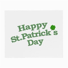 Happy St Patricks Text With Clover Graphic Glasses Cloth (small, Two Sided)