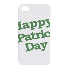 Happy St Patricks Text With Clover Graphic Apple iPhone 4/4S Premium Hardshell Case