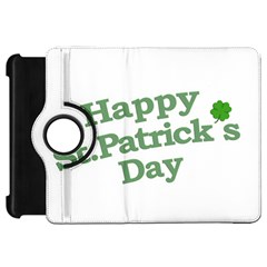 Happy St Patricks Text With Clover Graphic Kindle Fire HD Flip 360 Case