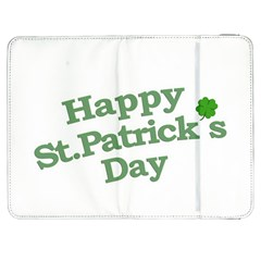 Happy St Patricks Text With Clover Graphic Samsung Galaxy Tab 7  P1000 Flip Case