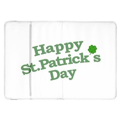Happy St Patricks Text With Clover Graphic Samsung Galaxy Tab 8.9  P7300 Flip Case