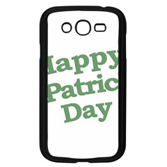 Happy St Patricks Text With Clover Graphic Samsung Galaxy Grand DUOS I9082 Case (Black)