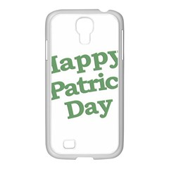 Happy St Patricks Text With Clover Graphic Samsung GALAXY S4 I9500/ I9505 Case (White)
