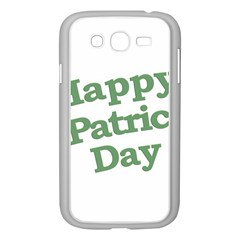 Happy St Patricks Text With Clover Graphic Samsung Galaxy Grand DUOS I9082 Case (White)