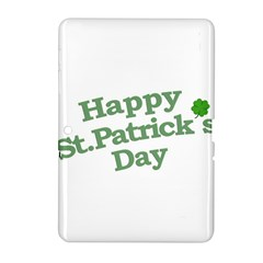 Happy St Patricks Text With Clover Graphic Samsung Galaxy Tab 2 (10.1 ) P5100 Hardshell Case