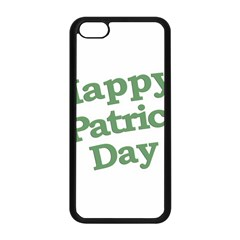 Happy St Patricks Text With Clover Graphic Apple iPhone 5C Seamless Case (Black)