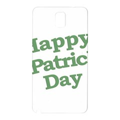 Happy St Patricks Text With Clover Graphic Samsung Galaxy Note 3 N9005 Hardshell Back Case