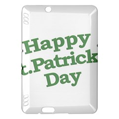 Happy St Patricks Text With Clover Graphic Kindle Fire HDX Hardshell Case
