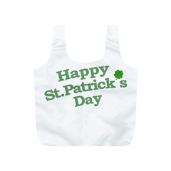 Happy St Patricks Text With Clover Graphic Reusable Bag (S)