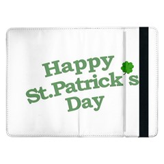 Happy St Patricks Text With Clover Graphic Samsung Galaxy Tab Pro 12.2  Flip Case