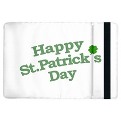 Happy St Patricks Text With Clover Graphic Apple iPad Air Flip Case