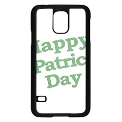 Happy St Patricks Text With Clover Graphic Samsung Galaxy S5 Case (Black)