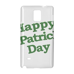 Happy St Patricks Text With Clover Graphic Samsung Galaxy Note 4 Hardshell Case