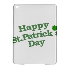 Happy St Patricks Text With Clover Graphic Apple iPad Air 2 Hardshell Case