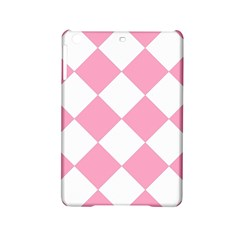 Harlequin Diamond Pattern Pink White Apple iPad Mini 2 Hardshell Case