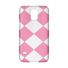 Harlequin Diamond Pattern Pink White Samsung Galaxy S5 Hardshell Case