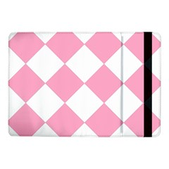 Harlequin Diamond Pattern Pink White Samsung Galaxy Tab Pro 10.1  Flip Case