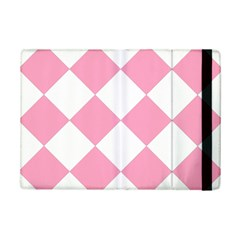 Harlequin Diamond Pattern Pink White Apple Ipad Mini 2 Flip Case