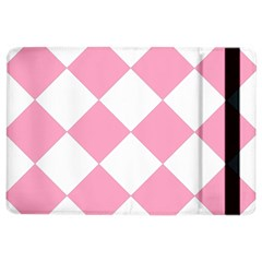 Harlequin Diamond Pattern Pink White Apple Ipad Air 2 Flip Case