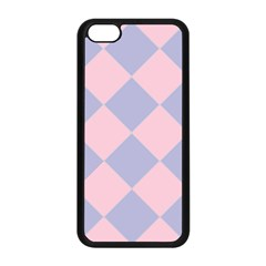 Harlequin Diamond Argyle Pastel Pink Blue Apple iPhone 5C Seamless Case (Black)
