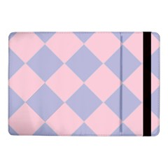 Harlequin Diamond Argyle Pastel Pink Blue Samsung Galaxy Tab Pro 10.1  Flip Case