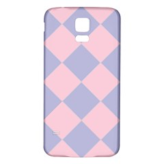 Harlequin Diamond Argyle Pastel Pink Blue Samsung Galaxy S5 Back Case (White)