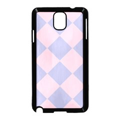 Harlequin Diamond Argyle Pastel Pink Blue Samsung Galaxy Note 3 Neo Hardshell Case (Black)