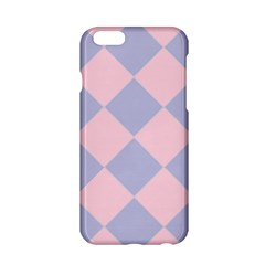 Harlequin Diamond Argyle Pastel Pink Blue Apple iPhone 6 Hardshell Case