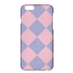 Harlequin Diamond Argyle Pastel Pink Blue Apple iPhone 6 Plus Hardshell Case