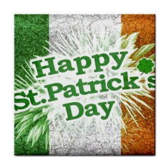 Happy St. Patricks Day Grunge Style Design Ceramic Tile