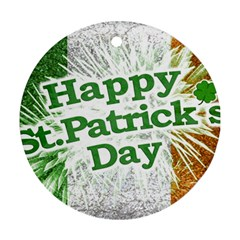 Happy St. Patricks Day Grunge Style Design Round Ornament