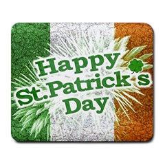 Happy St. Patricks Day Grunge Style Design Large Mouse Pad (Rectangle)