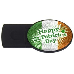 Happy St. Patricks Day Grunge Style Design 1GB USB Flash Drive (Oval)