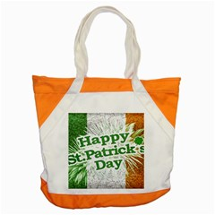 Happy St. Patricks Day Grunge Style Design Accent Tote Bag