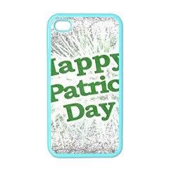 Happy St. Patricks Day Grunge Style Design Apple iPhone 4 Case (Color)