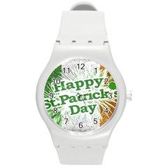 Happy St. Patricks Day Grunge Style Design Plastic Sport Watch (Medium)