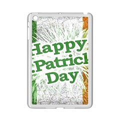 Happy St. Patricks Day Grunge Style Design Apple iPad Mini 2 Case (White)