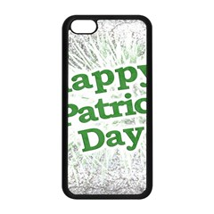 Happy St. Patricks Day Grunge Style Design Apple iPhone 5C Seamless Case (Black)